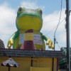 2017 hot sale inflatable giant frog for advertising