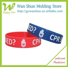 2015 custom promotional printing silicon charm bracelet for gift