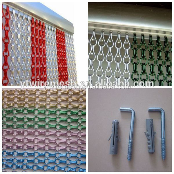 Decorative metal Chain Fly Screens door/window