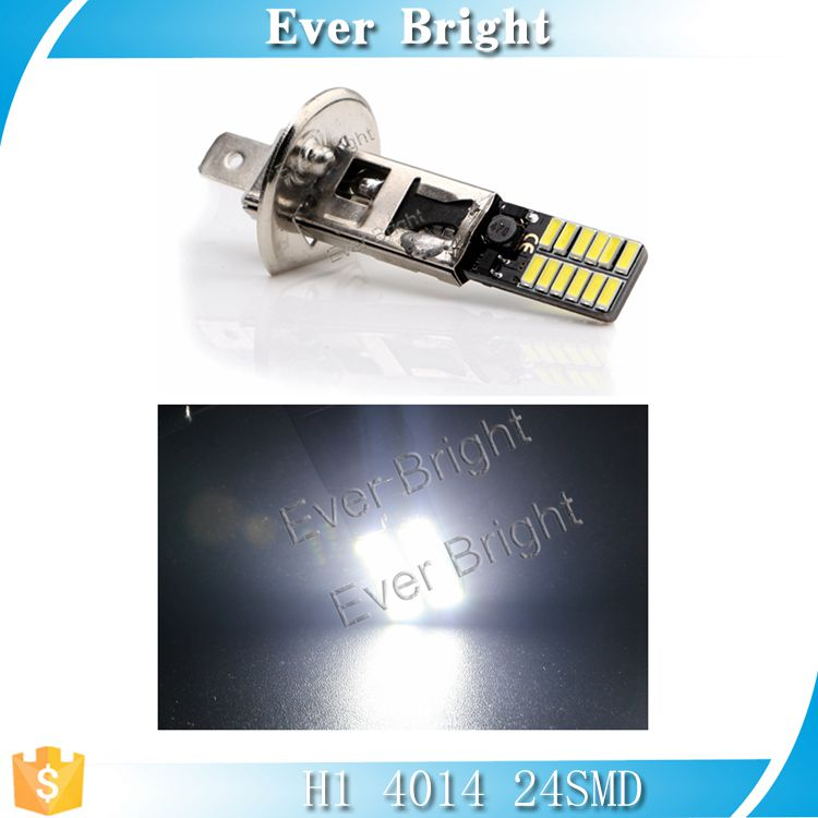 H1 4014 24smd 360LM 6500-8000K nonpolarity auto canbus lamp, fog light bulb