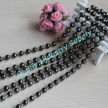 Gun Metal Color 10mm Decorative Ball Chain String Curtains