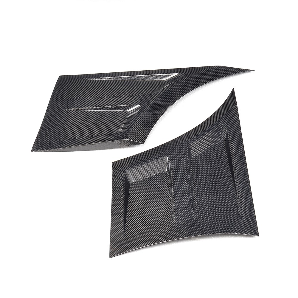 Carbon Fiber Car Fender Side Vents Trim for Ford Mustang GT Coupe 2-Door 15-17 (fits: Mustang)