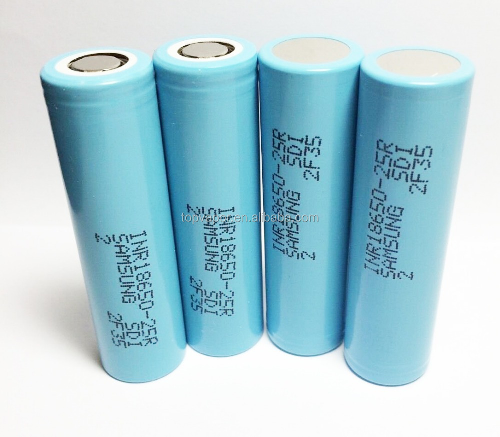 100% Authentic 25r 3.7v green samsung inr18650-25r battery 18650 35 amp battery samsung 25r 18650 akku imr 18650 2500mah battery