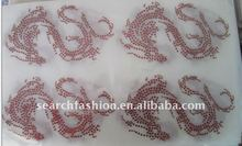 red Dragon for Lucky iron on motif transfers hot fix rhinestone strass