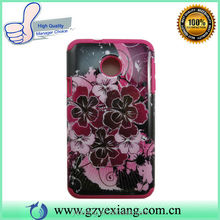 Flower printing PC Silicone Smart Cover Case For Huawei Ascend Y330