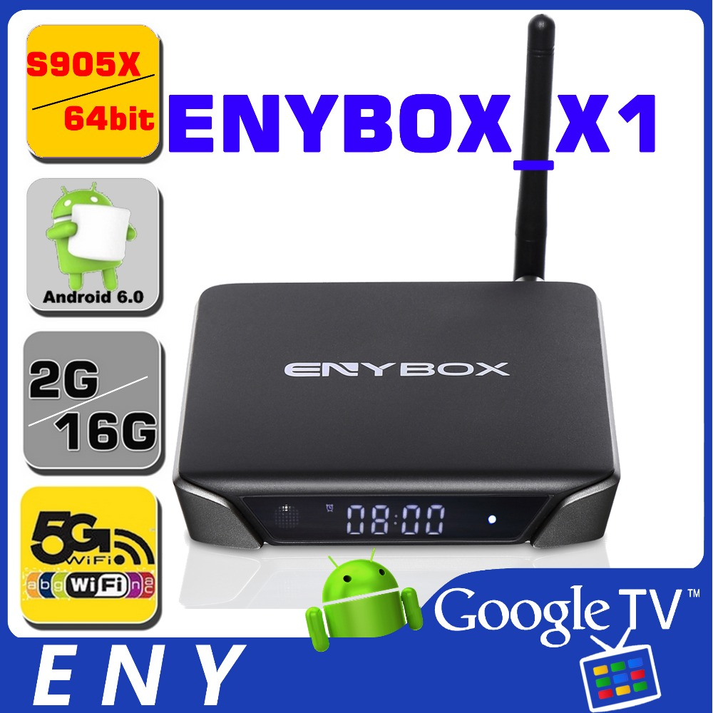 Best Enybox x1 android tv box free channel Quad core tv box live tv with external antenna
