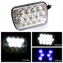 6x7 inch led headlight 45w 5x7 Led Headlight high low beam for Truck off-road vehicle