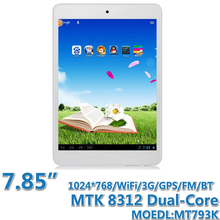7.85 inch MTK 8312 Dual-Core Tablet PC With 3G call WIFI BT GPS