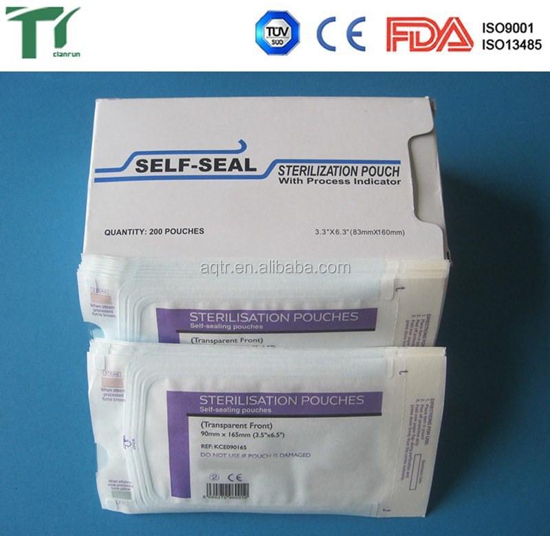 Self-Sealing Sterilization Flat Packaging Pouchs Manufacturer direct supplier