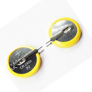3V Lithium button cell CR2450 with solder tags coin battery