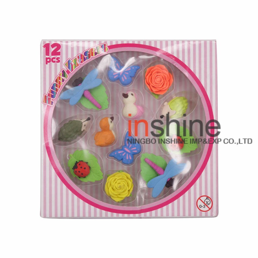 IN50804 Animal And Flower Style 3D Puzzle Eraser