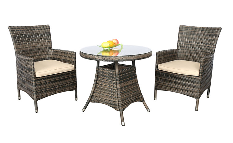 Wholesale outdoor garden wicker dining table and chair set