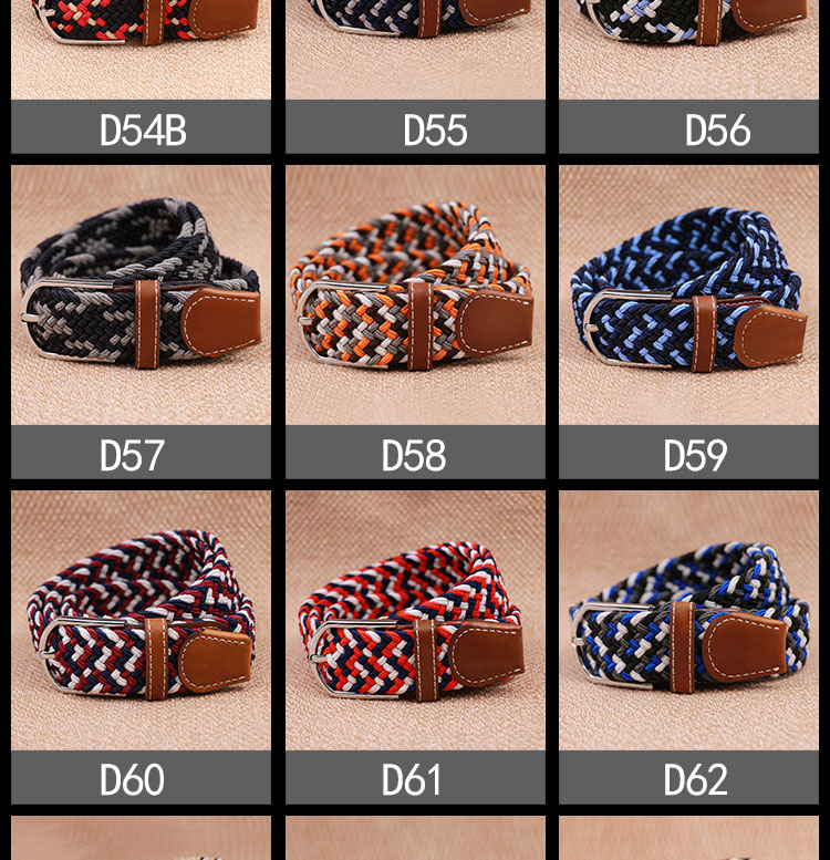 yd541 Manufacturer Colorful Woven Bradied Rope Belts for School Girl