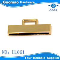Small size zinc alloy rectangle metal accessories buckles