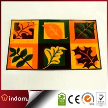 Discount Leaf printed polyester beautiful rugs
