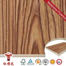 Gray wood grain melamine plywood with falcata core for sale in china direct sale