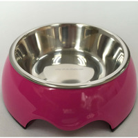 Small size purple color melamine dog bowl