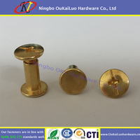 Philips-Slotted Head Wire Binding Screw Gold Colored