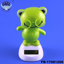 Cute Frog solar powered moving dancing figure toy