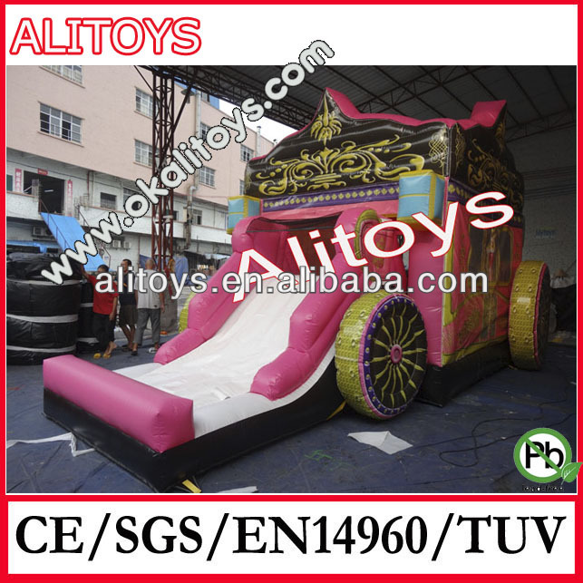 inflatable car combo,inflatable combo toy,cartoon inflatable slide