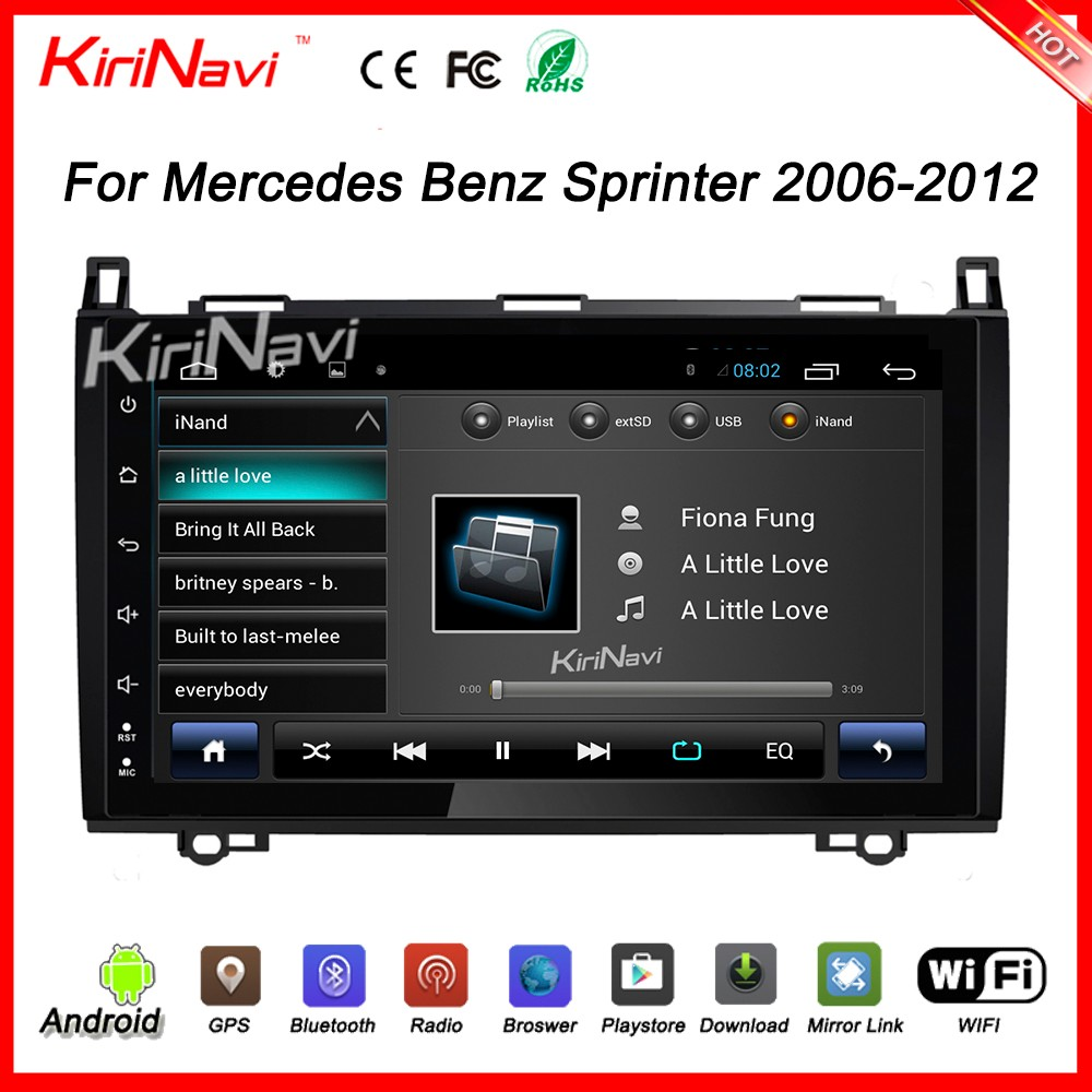 "Kirinavi wholesales WC-MB9682 9"" android 6.0 car navigation system for Mercedes Sprinter navigation 2006 - 2012 SWC"
