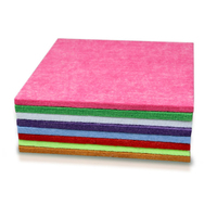 Recycled polyester microfiber celotex board
