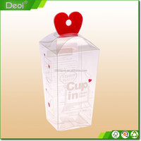 Fashional heart shape clear plastic candy box for gift