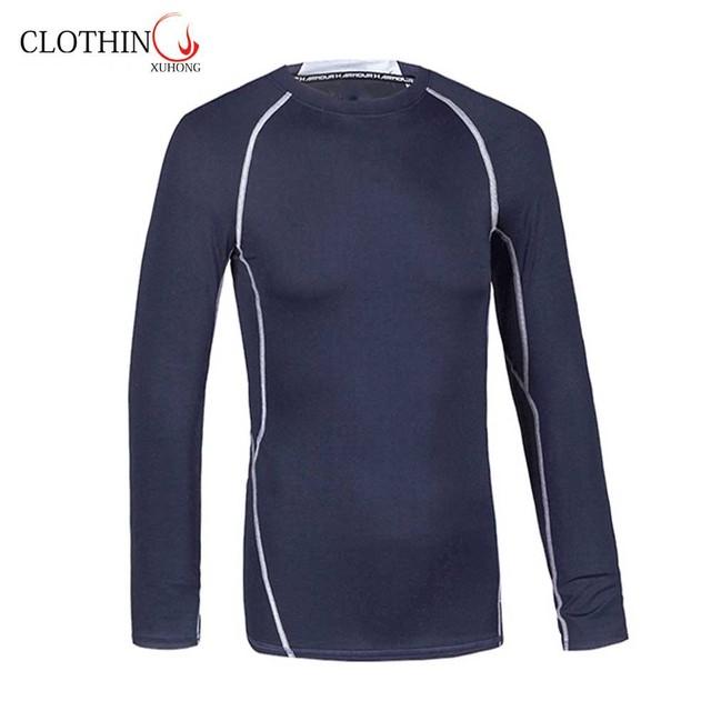 Best price fashionable popular slim riding tops elastic mens compression t shirt