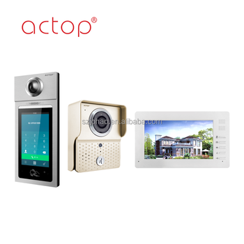 ACTOP Hot sale sip ip tcp video intercom for multi-apartment and building