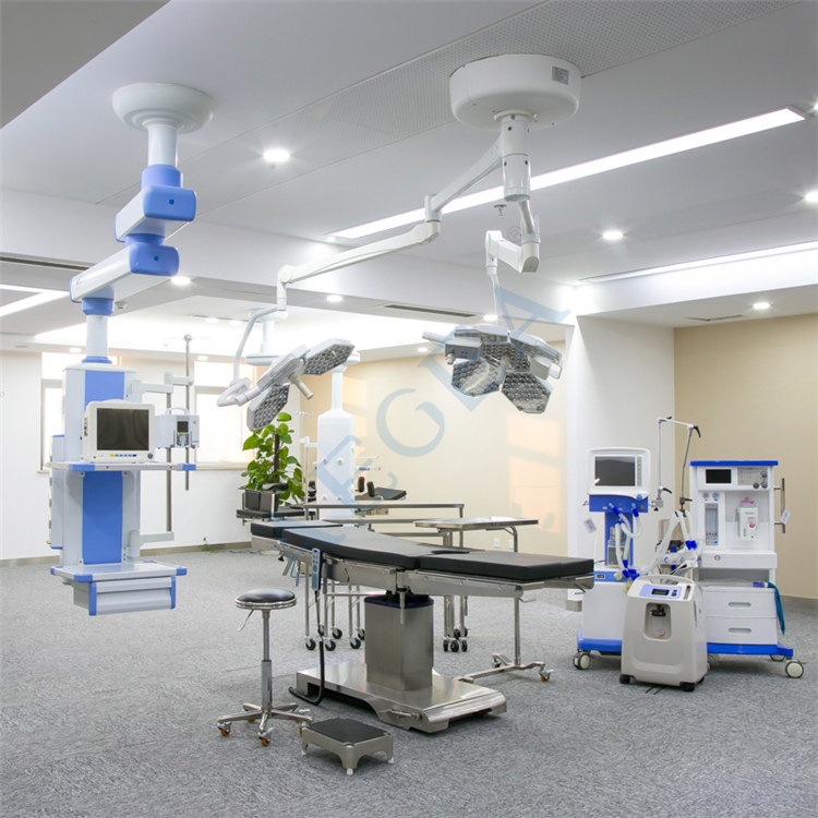 AG-LT030 Economic double heads operation room manufacturer shadowless ceiling mount led surgical lamp