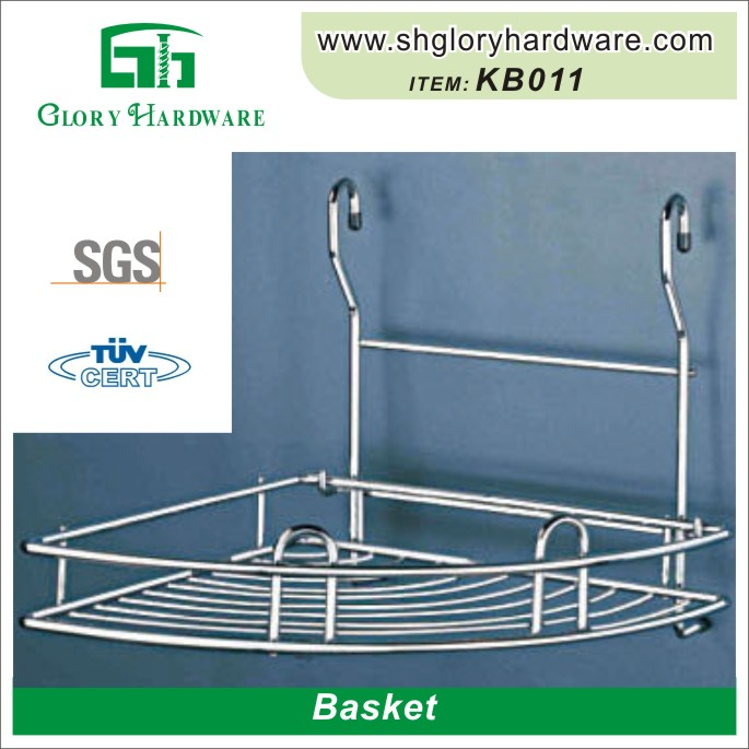 Chrome Wire Hand Metal Wire Stackable Shopping Baskets