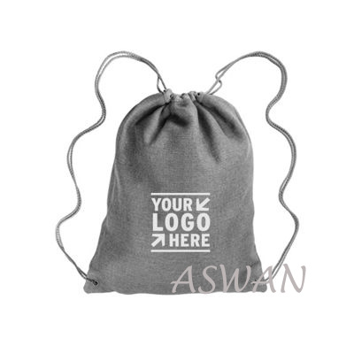 custom fancy high quality linen drawstring backpack for school