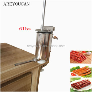 Areyoucan 6LBS Commerical Hand Opeated Sausage Making Salami Filling Meat Stuffing Machine