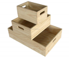 Solid Box Style and No Foldable wooden crates