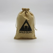 Promotional Natural Burlap linen Drawstring Pouch Custiomized Hemp Plastic Bags With Logo
