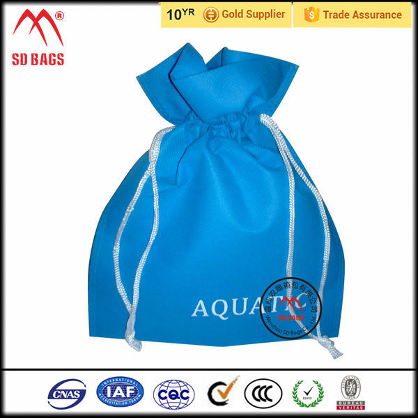 2015 Wholesale New Style calico , drawstring laundry bag