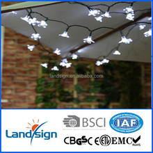 Cixi Landsign ourdoor decorative holiday living lights series XLTD-116 plastic flower thanksgiving led string lights