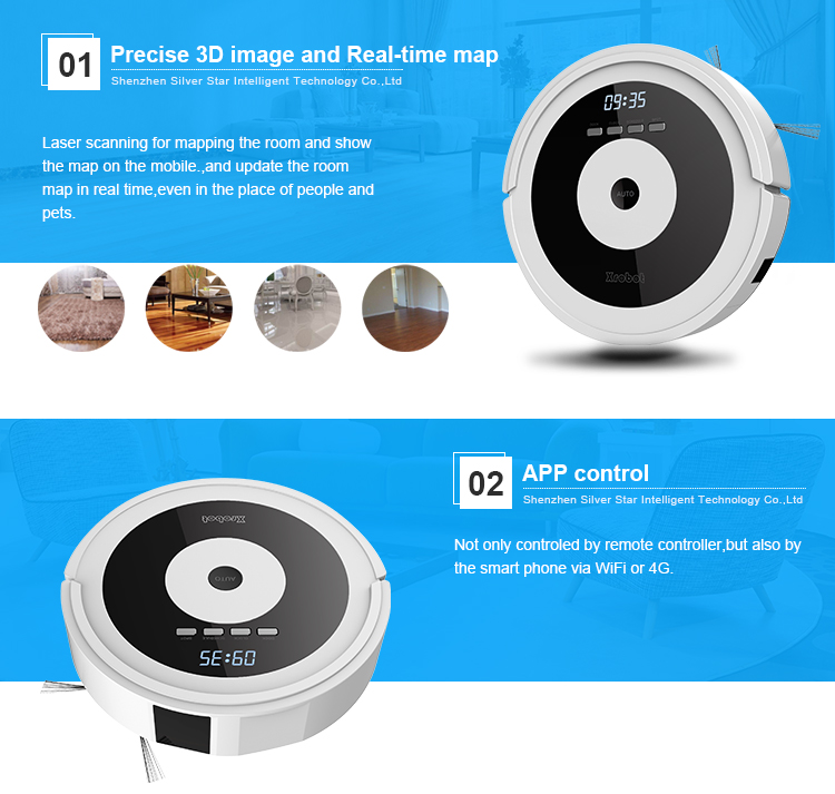 Smart robot vacuum mop sweeper remote control auto cleaner with automatic recharge