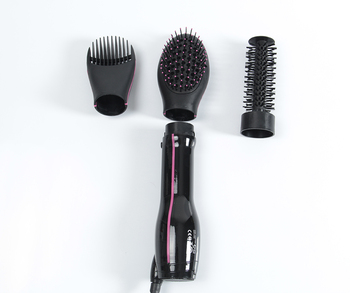 Electric hair straightening brush ceramic hair straightening brush hair brush