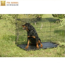 2017 popular black metal dog pet kennels with two doors