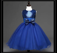 5 colors styleslove lovely sequin flower girl's wedding bridesmaid dress with good quality fabric