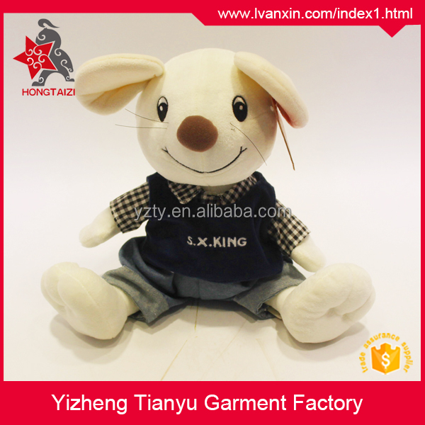 Cheap promotion gift stuffed mouse plush toy rats for sale with t-shirt