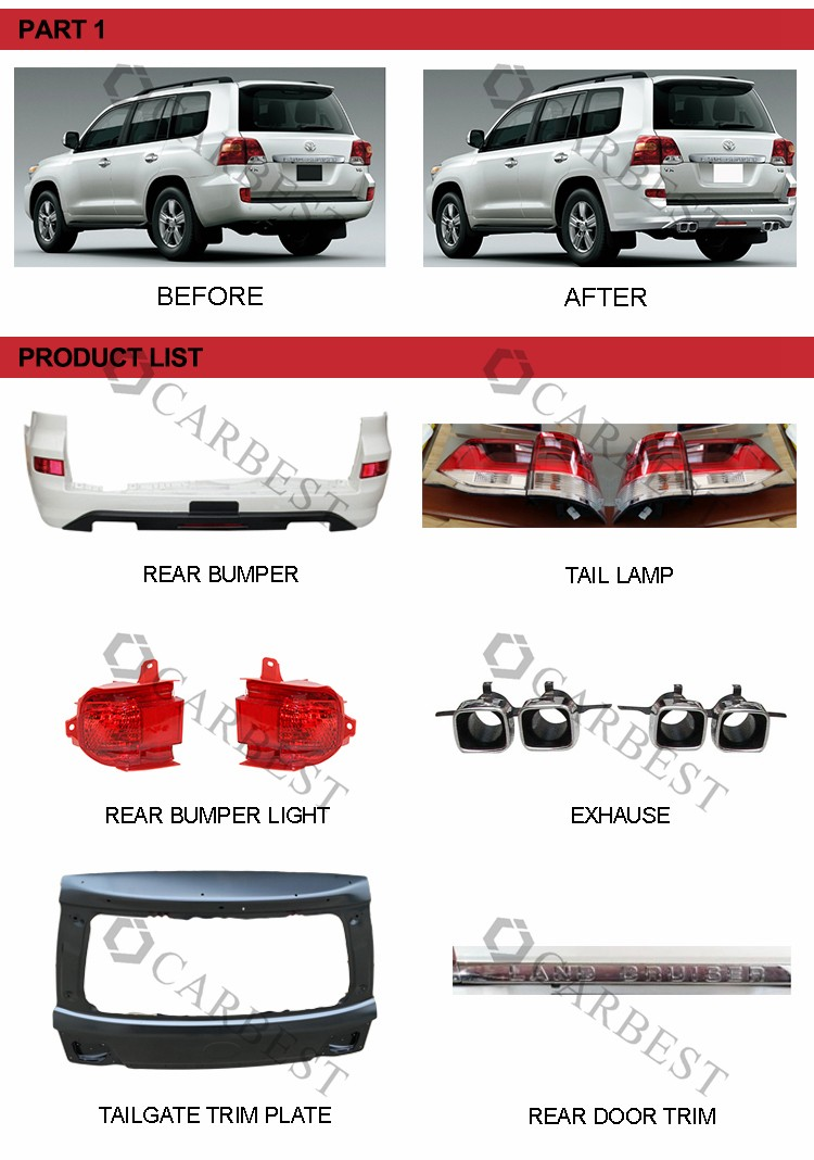 High Quality 2016 Land Cruiser Tail Light Led for Toyota Land Cruiser FJ200 2012-2016