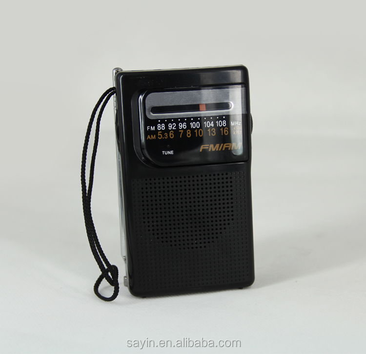 SY-R10 Portable AM FM 2 bands radio with built-in speaker