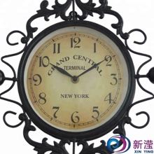 Antique handicraft luxury wrought iron wall clock