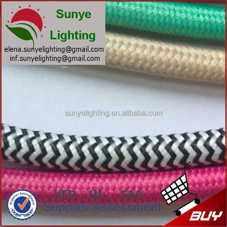 VDE,SAA,UL Certificated Best Quality braided nylon cloth covered insulated wire