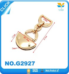 long chian handle zinc alloy leather bag parts and accessories
