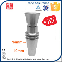 HTY Factory Cheap Price Male 10mm&14mm Domeless Titanium Nail For Smoking