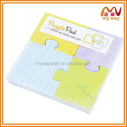 Jigsaw puzzle memo pad, funny message pads