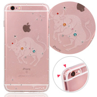 For iphone6s plus Taurus Crystal crashworthiness phone case